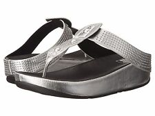 NEW FITFLOP WOMEN Sz11US BOHO LEATHER STUDS SANDALS SILVER