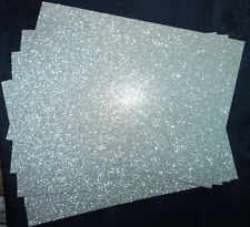 10 x Glitter Card Sheets-A6/C6 300gsm -Sparkling Silver SMALL/DEFECTS