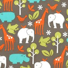 Dirt Zoology for Michael Miller, 1/2 yard 100% cotton fabric