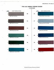 1963 FORD GALAXIE FAIRLANE LINCOLN MERCURY MONTEREY INTERIOR PAINT CHIPS DUPONT5