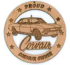 66 Chevy Corvair Coupe Wood Ornament Engraved