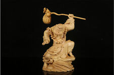 Fine China Boxwood handwork carving Budamo Buddha statue Rohan figure statue
