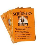8 Lot of Scribner's Magazines 1928, 1929, 1931