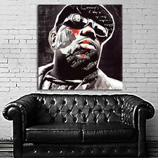 Poster Mural Notorious BIG Biggie Smalls Hip Hop 35x35 inch (90x90 cm) on Canvas