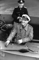 WW2 WWII Photo German U-Boat Officers on Conning Tower World War Two / 2553