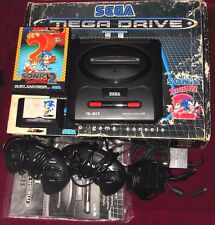 BOXED SEGA MEGA DRIVE 2 CONSOLE + SONIC THE HEDGEHOG BUNDLE! CABLES/CONTROLLERS!