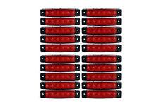 20 x 6 LED Seitenmarkierung Begrenzungsleuchte Positionsleuchte Rot 24V LKW KFZ