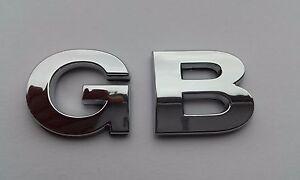 New Chrome 3D Self-adhesive Car Letters badge emblem sticker Spelling GB