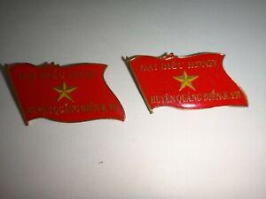 2 Vc Métal Badges : People's Delegates Representing Quang Dien Région