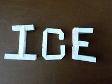 "1 Rectangle Paper Making 1 Origami 3D Letter.Create Words ""ICE"" by Calenda Paper"