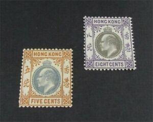 nystamps British Hong Kong Stamp # 74,75 Mint OG H $37   L30x3294