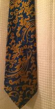 Vintage Sears Blue Gold Tie Necktie