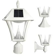Outdoor Lighting Solar Post Wall Dusk To Dawn Light White Lamp Light Fixture LED