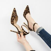 Sexy Leopard Women High Heels 6-10CM  Pumps Shoes Women Print Pointed Toe Shoes