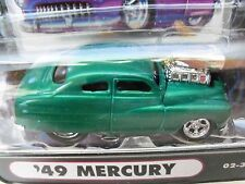 MUSCLE MACHINES (1949) '49 MERCURY COUPE - SUPERCHARGED - (GREEN) 1/64 DIECAST