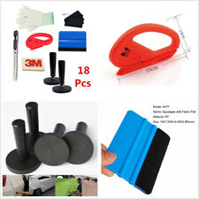 18Pcs Car Door Window Vinyl Wrap Installation Tools Kit 3M Squeegee Glove Magnet