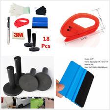 18Pcs Car Door Window Vinyl Wrap Installation Tools Kit 3M Squeegee Glove Magnet