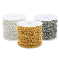 1 Roll of 10 Yards O Shape Jewelry Making Chains Tail Extender Chain for DIY
