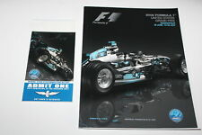 Racing Program Formula 1 F1 2006 United States Grand Prix Ticket Stub Start Grid