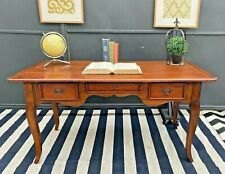 GORGEOUS LARGE SOLID TIMBER RUSTIC FRENCH COUNTRY STUDY OFFICE DESK