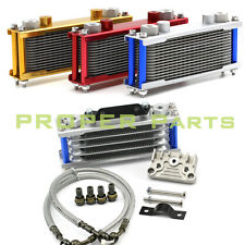 Universal Motorcycle Gold Oil Cooler Radiator CNC Plate cooling 110CC-200CC