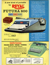 1962 PAPER AD Royal Futura 800 Portable Typewriter Smith Corona Electric