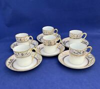 VINTAGE SET OF NIPPON DEMITASSE TEA CUPS OR ESPRESSO CUPS, HAND PAINTED