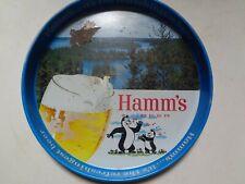 Hamm's Beer Serving Tray 12� Vintage Olympia Brewing Company Hamm's Bear Tray