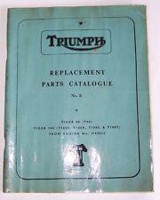 TRIUMPH REPLACEMENT PARTS CATALOG T90 T100 T100R T100C 500 TIGER FACTORY MANUAL