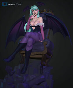 Morrigan Aensland Fanart Garage kit|Model kit|Not painted