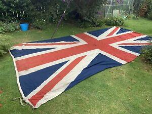 ww2 era very large stitched union jack british building flag