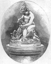 DOGS. 3-Gratitude-Benzoni, antique print, 1851