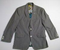 Size 38 Navy Details about  /Robert Graham Men/'s Gasper Woven Two Button Notch Lapel Sportcoat