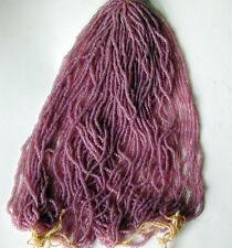 Purple Rose Luminous Antique Glass Seed Beads MASTER HANK =8 Mini Hanks (5556517