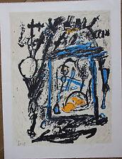 Jacques DOUCET Lithographie signée lithograph COBRA Alechinsky Appel Corneille *