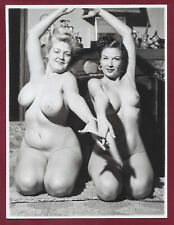 Vintage Nude Photo~Mega Big Breasts Puffy Dark Nips Curvaceous Pinup Jenny Lee