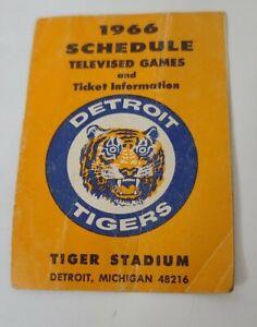 Vintage 1966 Detroit Tigers Pocket Schedule