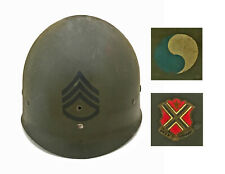 Wwii M1 Helmet Liner Wh First Type Chin Strap S 00006000 Sg-29th Id-116th Inf Rgmt Ww2