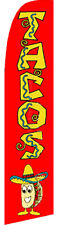 TACOS Mexican Food Burritos Swooper Banner Feather Flutter Tall Curved Top Flag
