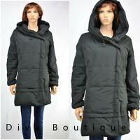 Zara Black Down Hooded Puffer Coat with wraparound Collar RRP£90 NEW
