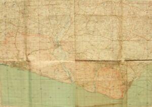 Antique War Issue Ordnance Survey map; Lewes, 'Brighton & Eastbourne' 1931