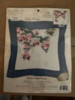 Candamar Designs Lucy Wang Fuchsia Pillow Picture Cross Stitch Kit #51481 Sealed