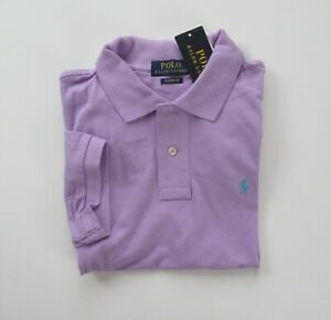 NWT Ralph Lauren Boys S/S Classic Solid Mesh Polo Shirt 8 10/12 14/16 18/20 NEW
