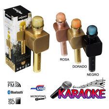 MICROFONO KARAOKE INALAMBRICO RANURA USB TARJETA TF FUNCION GRABADORA RADIO FM