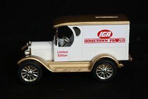 ERTL IGA Limited Edition Replica Chevrolet 1923 Delivery Van Die-Cast Money Bank