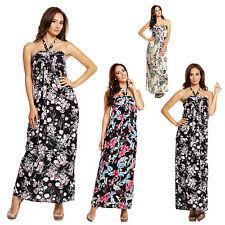 Cotton Women's Halter Neck Long Sleeve Dresses