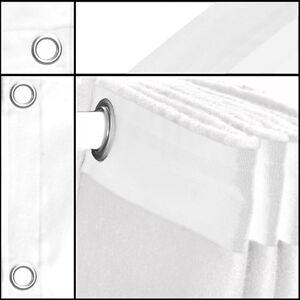 Vorhang-Backdrop-Geöst Molton-Stoff weiß 1,5mx3m Konfektioniert B1