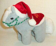 2003 BREYER CHRISTMAS SANTA CLAUS GRAY & WHITE PONY HORSE PLUSH STUFFED MINT