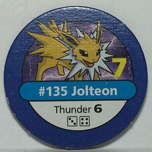 1999 Pokémon Master Trainer Board Game * Part / Piece * Blue Chip #135 Jolteon