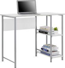College Students Kids White Desk Table Basic Computer Modern Bookshelf Dorm